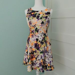 Maeve from Anthropologie Neon Floral Pebble Dress